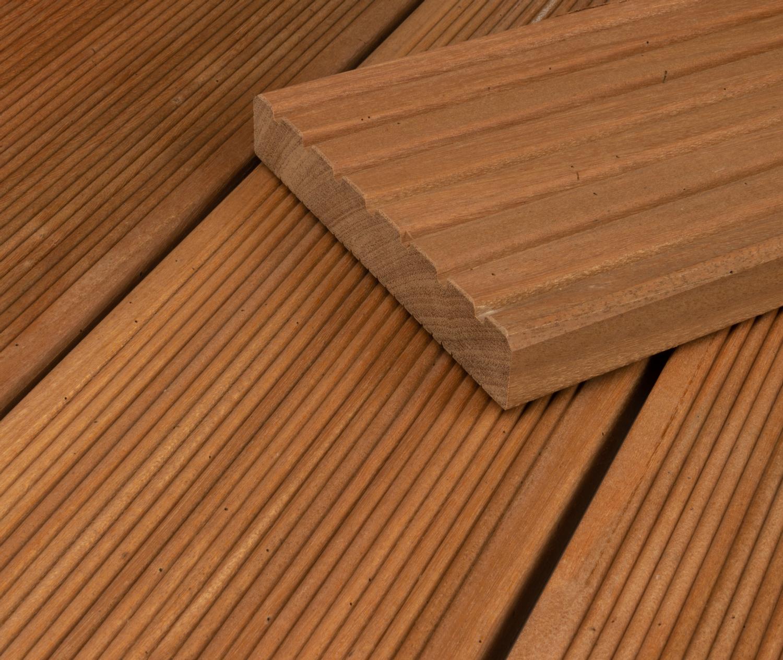 HORI Terrassendielen Bangkirai Standard grob/fein 20 x 20 mm